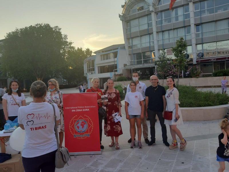 Međunarodni dan borbe protiv zloupotrebe droga obilježen danas na Trgu Argentina u Podgorici.